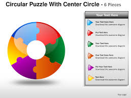 Circular Puzzle With Center 6 Powerpoint Presentation Templates Puzzle Powerpoint Template Free