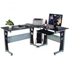 Desks Corner Wood L Shape Corner Computer Desk With Smooth Surface Desks