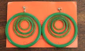 1960 s earrings found in ithaca big 3 diameter 1960s bakelite hoop earrings