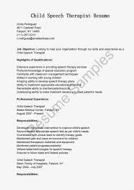 speech therapist resume speech language pathologist resume