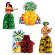 Tropical Themed Party Decorations - tropical luau playmates mini centerpieces party decorations hula