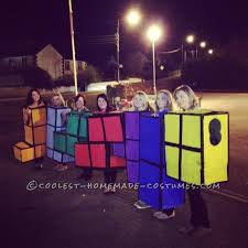 Tetris Halloween Costume Original Tetris Blocks Group Costume