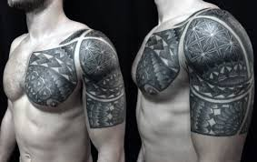 arm and shoulder sacred geometry tattoo for men tattoo pinterest