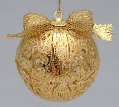 danbury mint 2001 gold ornament collection at