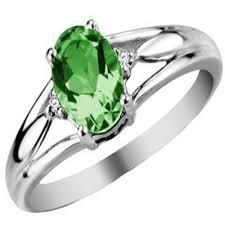 gemstones rings images Buy ag gem real diamond green oval gemstones ring online best jpg
