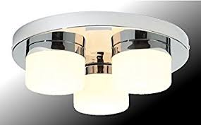 marco tielle 3 light bathroom ceiling light in chrome finish with