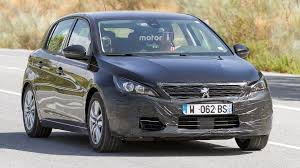 peugeot cabriolet 308 refreshed peugeot 308 spied testing with wagon body
