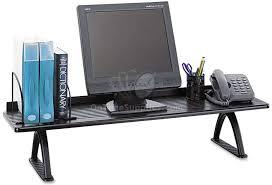 desktop shelf risers by safco ontimesupplies com