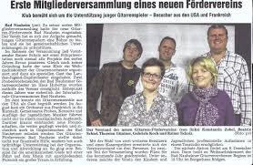 Sparkasse Bad Nauheim Presse Gitarrenförderverein Bad Nauheim
