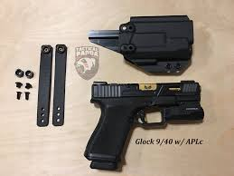iwb light bearing holster aiwb iwb light bearing kydex holster tactical panda llc