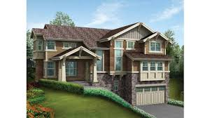 home plans for sloping lots stately craftsman for sloped lot hwbdo56069 craftsman from