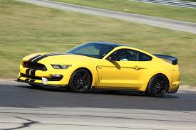 Mustang Yellow And Black Watch Us Go For Laps In The 2016 Ford Shelby Gt350r Mustang