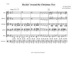 rockin around the christmas tree sheet music christmas lights