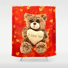 Teddy Shower Curtain Teddybear Shower Curtains Society6