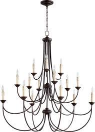 15 light chandelier quorum international 6250 15 86 oiled bronze brooks 15 light 3