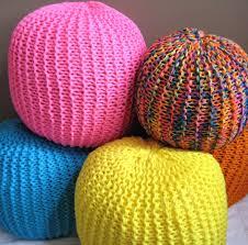 knitted pouf ottoman target ottomans knit pouf ottoman target gray crochet pattern free