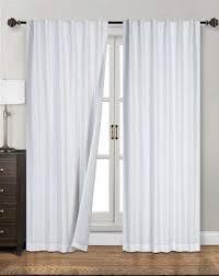 White Darkening Curtains Siena Home Fashions Midnight Blackout Curtain 55 X84