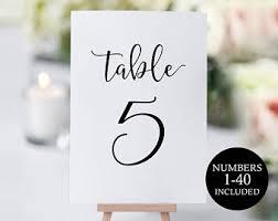Diy Table Number Holders Diy Table Numbers Etsy