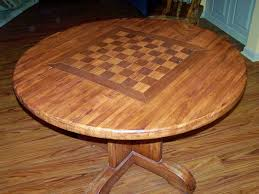 handmade butcher block table with chess board by classic woodworks custom made butcher block table with chess board