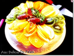 cuisiner chignon frais gâteau génoise aux fruits frais recette facile aux delices du