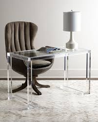 Writing Desk With Chair Interlude Home Dana Acrylic Writing Desk