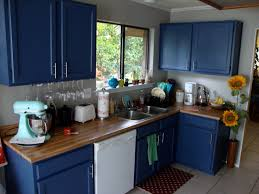 backsplash kitchen cabinets painted blue new blue painted