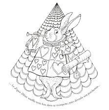 Alice au pays des Merveilles  Une aventure à colorier Jeunesse