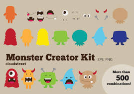 cute halloween monsters clipart images