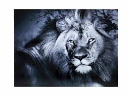 lion print on glass heaven collection by kare design