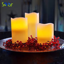 sdar real wax flameless colorful candles battery operated led