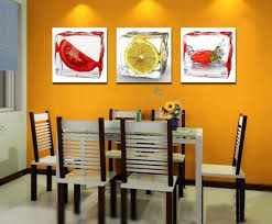 orange accent wall for small dining room decorating ideas with