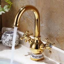 gold faucet vintage bathroom sink faucet nozzle filters water