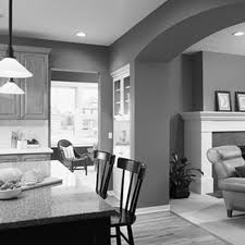 grey wall color paint futuristic plastic chairs paint ideas for