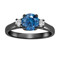 engagement rings with blue stones three engagement ring 1 24 carat vintage style 14k