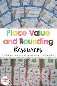 printable math games on place value place value and rounding printables games and activities for math