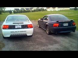 99 04 mustang exhaust stock 99 v6 mustang exhaust vs 01 mustang gt exhaust