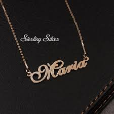 name necklace gold name necklace cursive name necklace
