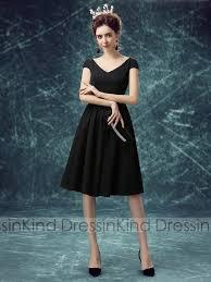 a linie v ausschnitt knielang spitze brautjungfernkleid p597 klein schwarzes kleid cocktailkleid kurze ärmel a linie v