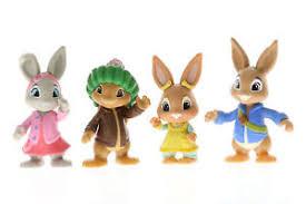 rabbit and benjamin bunny rabbit toys figurines figures bobtail cotton