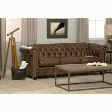 Distressed Chesterfield Sofa Hancock Tufted Brown Leather Chesterfield Sofa Free Shipping