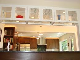 Open Kitchen Cabinet Designs Over Island Glass Kitchen Cabinet See Through The Perfect Home Design