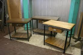 buy a hand made reclaimed wood industrial kitchen island made to