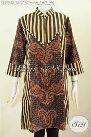 desain baju batik halus sedia busana batik wanita proses printing halus buatan solo model