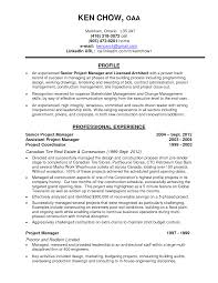 Resume Examples Format Construction Project Manager Resume Sample Resume For Your Job