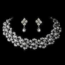 wedding choker necklace images White pearl choker necklace set wedding jewellery bridal jpg