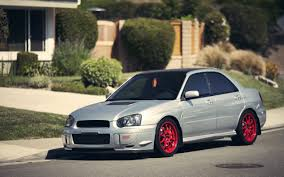 subaru red subaru impreza wrx sti red wheels hd wallpaper 693063