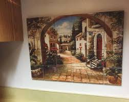 tile murals for kitchen backsplash tile mural etsy