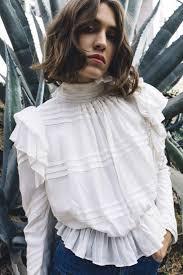 maria stanley the krissy blouse bone feminine crushes and ruffles