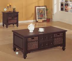 Cherry Wood End Tables Living Room Rustic Living Room With Marvelous Coffee End Table And Brown