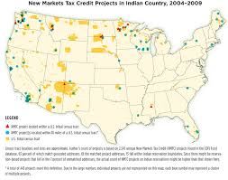 map usa indian reservations the new markets tax credit work in communities